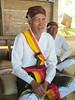 Welcoming ceremony with the village elder, Manggarai village 9/20/2012