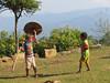 "Children copy the adults ""Whip Dance"", Manggarai village 9/20/2012"