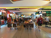 Food court with familiar places, Bangkok, Thailand airport, 8/17/2012
