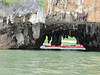 We motor through a cave through the rock! Weird formations of rock, Phang-Nga Bay National Park, Thailand, 8/18/2012