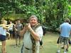 Ken and python, Deer Park Zoo, Malaysia, 8/22/2012