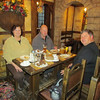 Sandy, Gary and Ken enjoying dinner of sausages,  Beer Haus in Khabarovsk, 1/14/2013