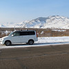 Our guide's car, driving near Ulan-Ude, Siberia, 1/18/2013