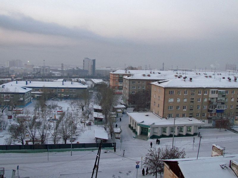 View of Ulan Ude, Siberia from our hotel, 1/18/2013