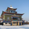 Ivolginsky Datsan, Buryat monastery. Near Ulan Ude, Siberia, 1/18/2013.