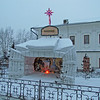 Nativity scene, Church of Our Savior (Russian Orthodox), Irkutsk, Siberia, Russia, 1/19/2013