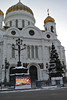 Cathedral of Christ the Savior.  We saw a service, but no pictures.  They did have a screen outside showing live video.  There are no seats in Russian Orthodox churches and everyone stands. 1/27/2013, Sandy's camera
