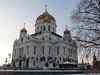 Cathedral of Christ the Savior, demolished in 1931 under Stalin and rebuilt exactly as it had been, down to the frescos on the walls, from donations after the fall of communism.  Opened app 2000 - an architectural wonder to do in this age. 1/27/2013