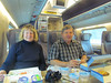 Shirley and Ken having lunch on our 3 hr train ride from St Petersburg, Russia to Helsinki, Finland 2/4/2013