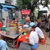 Typical street local restaurants. Yangon, Myanmar (Burma), 10/18/2013