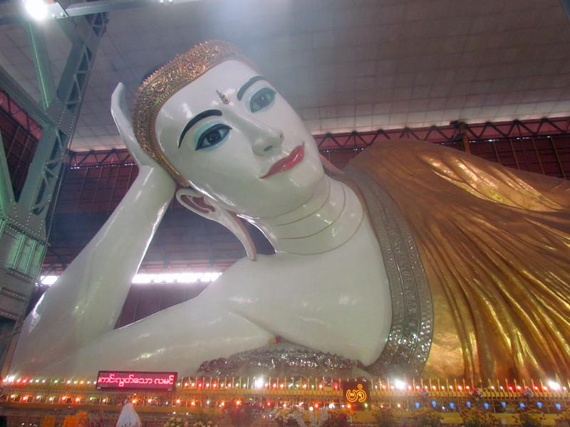 Reclining Buddha, Yangon, Myanmar (Burma), 10/18/2013