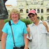 Shirley and our guide, Lu. Siagon, Viet Nam, 11/1/2013