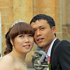 Many brides and grooms pose for pictures. Saigon, Viet Nam, 11/1/2013