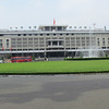 Former Presidential Palace (the Reunification Palace now) and saw where a North Vietnamese tank crashed through the gates on April, 30, 1975 signifying the fall of Saigon, Saigon, Viet Nam, 11/1/2013