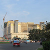 New convention center.  Phnom Penh, Cambodia, rickshaw bicycle (cyclos) for an hour ride around the city, 11/4/2013