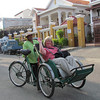 Phnom Penh, Cambodia, rickshaw bicycle (cyclos) for an hour ride around the city, 11/4/2013