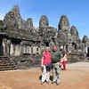 Ken and Shirley, Angkor Thom which was built in the 11th or 12th century, Cambodia. 11/6/2013