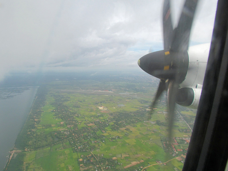 Our 15th flight of the trip.  Lao Airlines from Siem Reap, Cambodia to Pakse, Cambodia, 11/9/2013