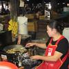 Frying bananas. Market, XiengKhouang, Lao, 11/11/2013