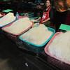 Rice noodles. Market, XiengKhouang, Lao, 11/11/2013