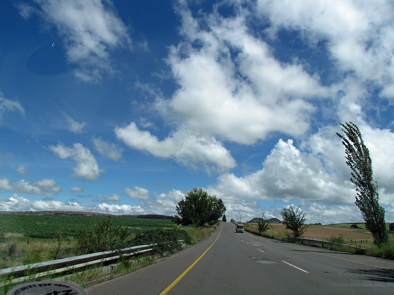 Driving southwest of Johannesburg, South Africa, 3/12/2014