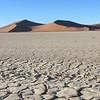 Tsauchab dry river bed, Namib Naukluft Park with sand dunes of Sossusviel, Namibia, 3/30/2014