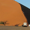 People climbing a huge sand dune #45! Namib Naukluft Park with sand dunes of Sossusviel, Namibia, 3/30/2014