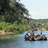 Safari boat trip in Chobe National Park, Botswana, 4/4/2014