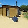 Solar panel for the pool and bar house. Village of Sindie. Near Livingston, Zambia, 4/6/2014