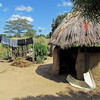 Hut for cooking for this family, Sindie, near Livingston, Zambia, 4/6/2014
