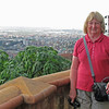 Shirley on our hotel's balcony overlooking the city of 2 million people, Antananarivo, Madagascar, 4/8/2014
