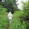 Shirley hiking in Andasibe-Mantadia National Park, Madagascar, 4/10/2014
