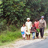 Many people do not have cars and walk everywhere. Madagascar, 4/11/2014