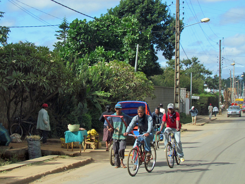Antsirabe, Madagascar, known for rickshaws and push/pull carts. 4/12/2014