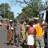 People getting on public transportation, Madagascar, 4/17/2014