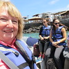 Our 1st dinghy ride to our boat.  Shirley, LeAnn, Hillary, Alexis. San Cristobal Island, Galapagos Islands, Ecuador, 9/11/2017