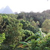 Twin Peaks and jungles seen from our room, Hotel Crystals, Soufriere, St Lucia, 3/12/2018