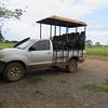 Our safari van, Pantanal area of Brazil, 2/20/2018