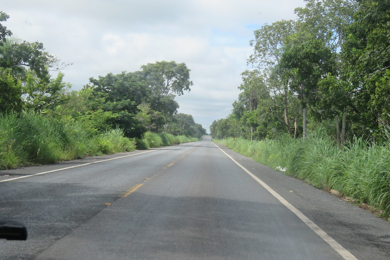Heading South west on the Transpantaneira Road to the Pantanal area of Brazil, 2/18/2018