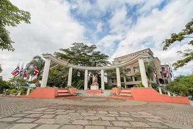 Plaza de la Libertad Electoral. Edificio Tribunal Supremo de Elecciones.