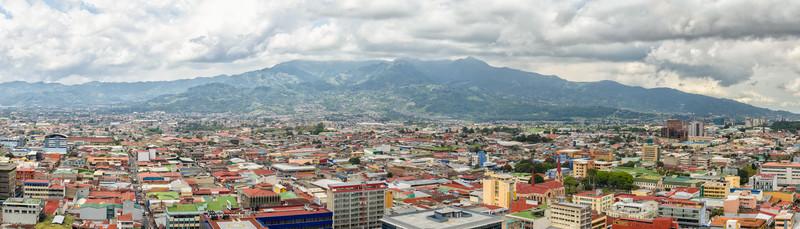 Vista hacia el Sur de la Capital, una de las zonas más pobladas de San José.