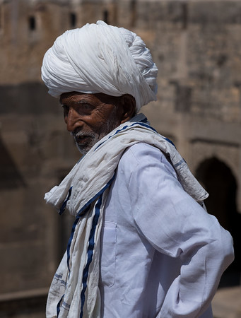 Gentleman at the Chand Baori Step-Well