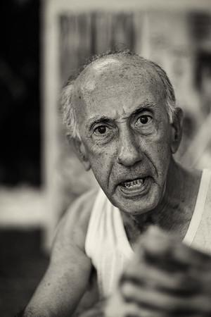 The Painter and Writer Vianko in His Street Studio, Havana, Cuba
