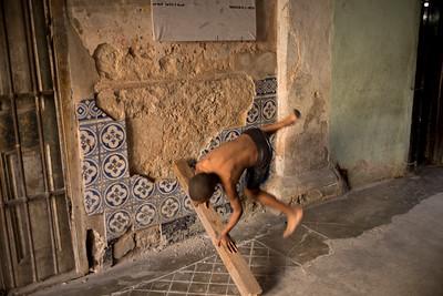 Bustin' a Move - Gymnastics Practice in the Home Doorway