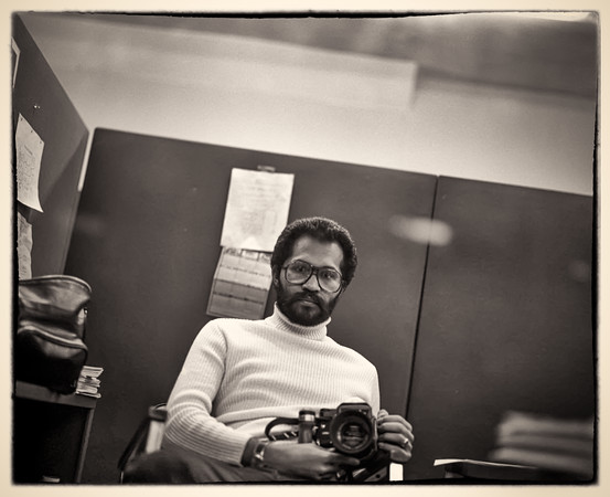 Self Portrait with Pentax 6x7 Camera