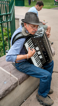 Accordianist on The Plaza