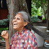 Elder in a village we visited.  She is 65 and grows palm trees to harvest heart of palm. (Joel)
