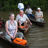 Marjorie, Buddy, and George canoeing