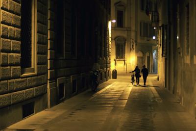 """Night Stroll via Faenza"", Florence, Italy"