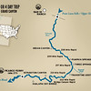 Map of the 4 day trip - beginning at Bar 10 Ranch and ending at Lake Mead